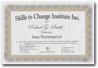 Certifikát Faster EFT level 1-A