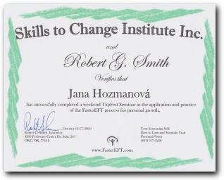 Certifikát Faster EFT